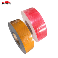 45M Safety Reflective Tape Stickers Truck Conspicuity Tape Automobiles Motorcycle Tape Red Yellow Color