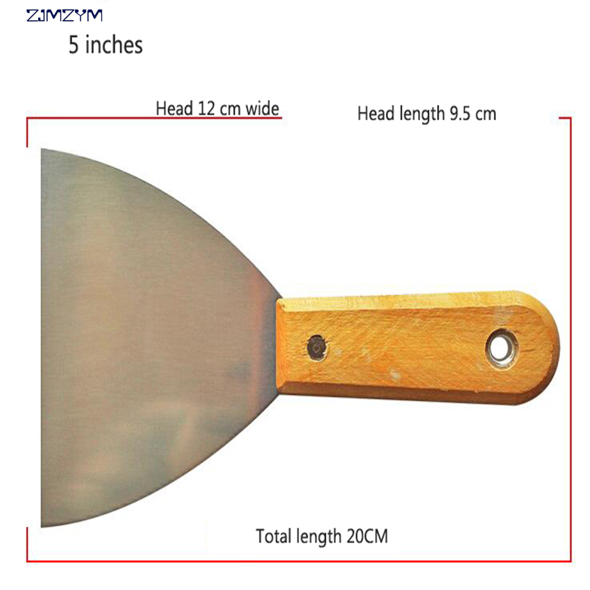 5 Inches 20cm Multi-function Manganese Steel Putty Knife Blade Antirust Batch Knife High-polished Wipe Scraper Tool