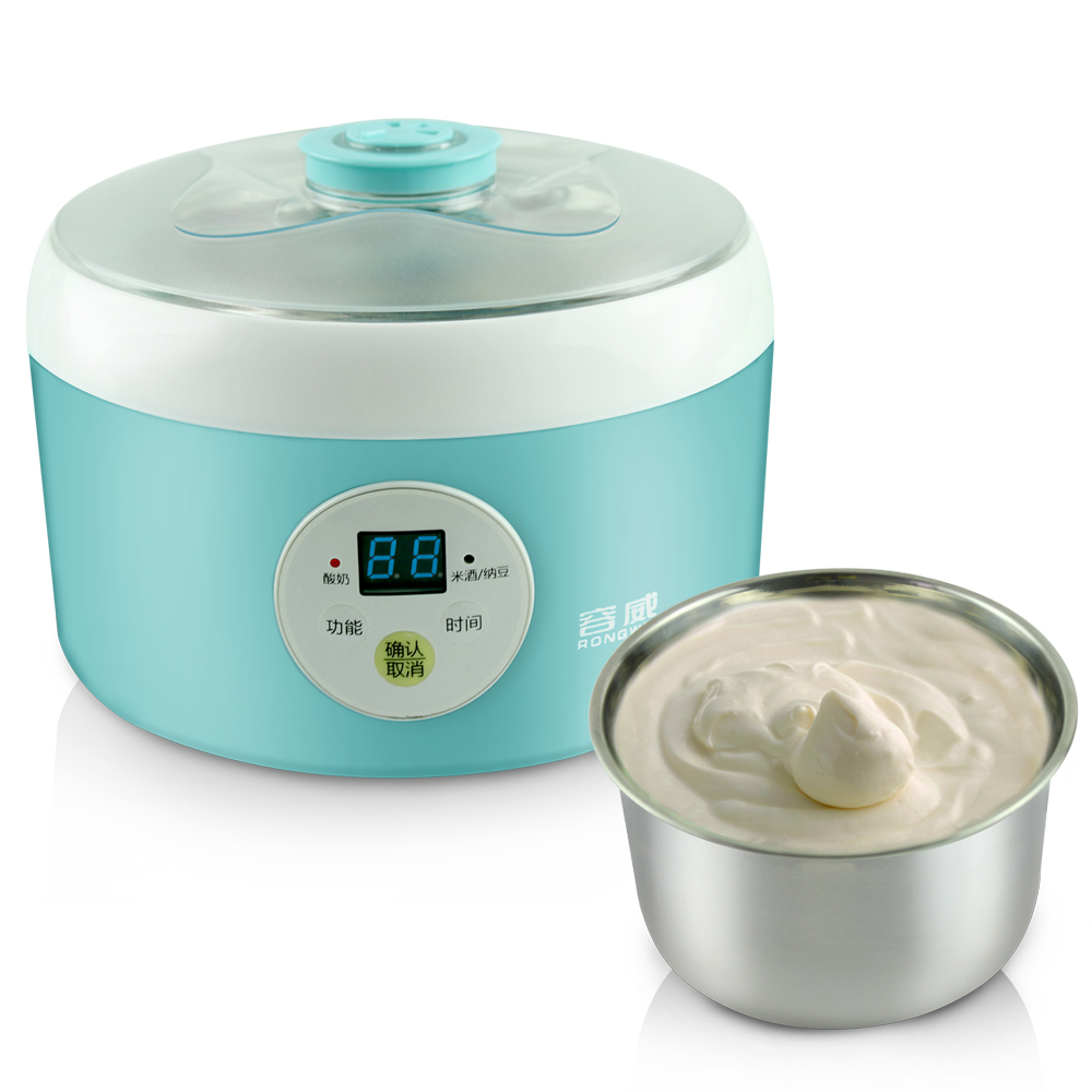 Natto,Yogurt and rice wine 3 in 1 Automatic Maker, multifunction LCD display yogurt machine stainless steel liner free shipping land tenure and efficiency in boro rice production in bangladesh