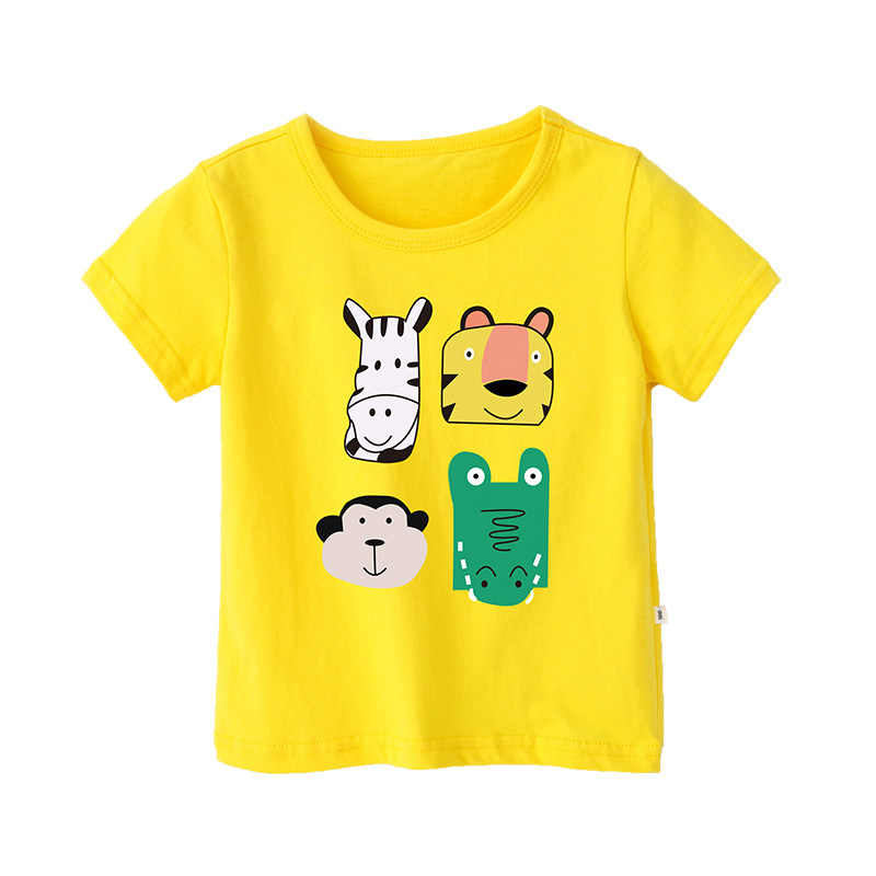 Baby Boys T Shirt Girls Cotton Tops for Girl Tees Cartoon Animal Print Kids Outwear Children Clothes Top 2-12 Year Boys Clothing