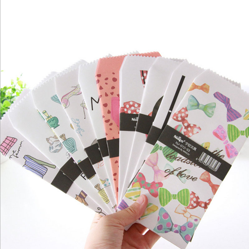 5pcs/lot Woman Fragrant Envelope Writing Paper Stationery Kawaii Birthday Christmas Cpostcard Gift Cards Graffiti DIY Stationery