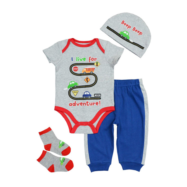 Newborn's Cute Short Sleeved Cotton Clothes Set