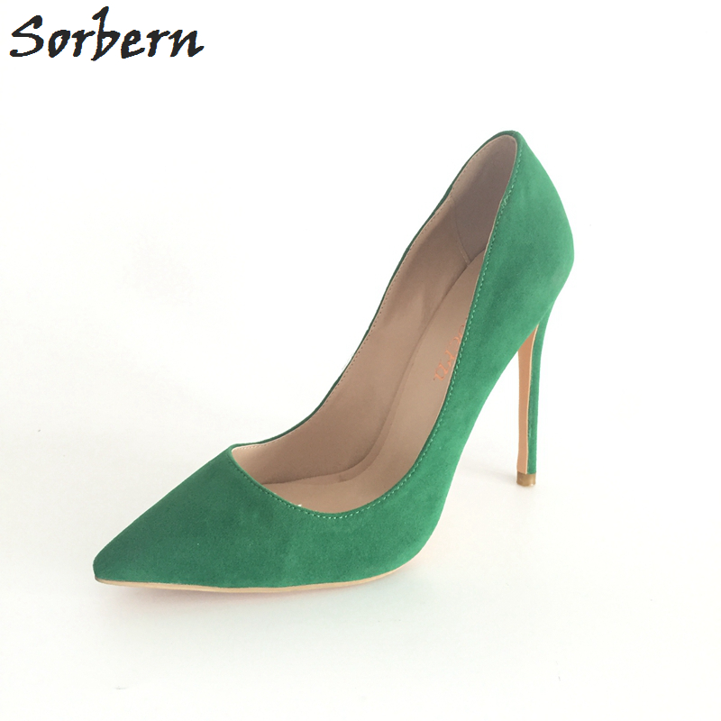 Sorbern Multi-color Women Pointed Toe Pumps Shoes High Heel Stiletto OL Shoes EU Size 34-46 Spring Style Shoes Women Customized