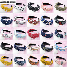 For Women Top Knot Turban Headband Elastic Hairband Girls No Slip Stay on Knotted Head band Hair Band Fashion Hair Accessories все цены