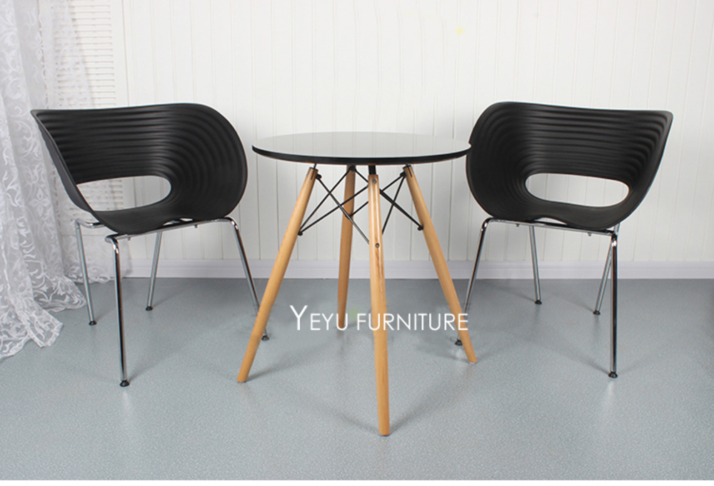Modern Design Plastic and metal fashion classic design Chair, Popular Dining armchair, Stackable cafe chair, meeting chair 2pcs