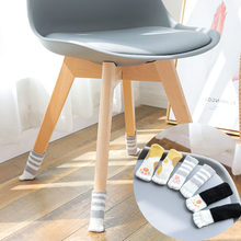 Cat paw modelling knitting DIY Furniture Leg Pad Protector Feet Rug Felt Pads Anti Slip Mat Bumper Damper For Chair Table(China)