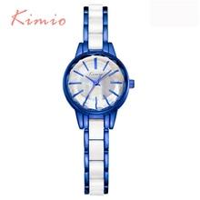 KIMIO Brand Blue Fashion Simple Design Ladies Wrist Watches Party Elegant Quartz-Watch For Women Casual Relogio Feminino 2016