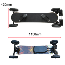 Electric Mountain Skateboard 3300W of powe 36V Lithium Battery Off Road Skateboard Pneumatic Tire 2 Layers Bamboo 8 Layers Maple