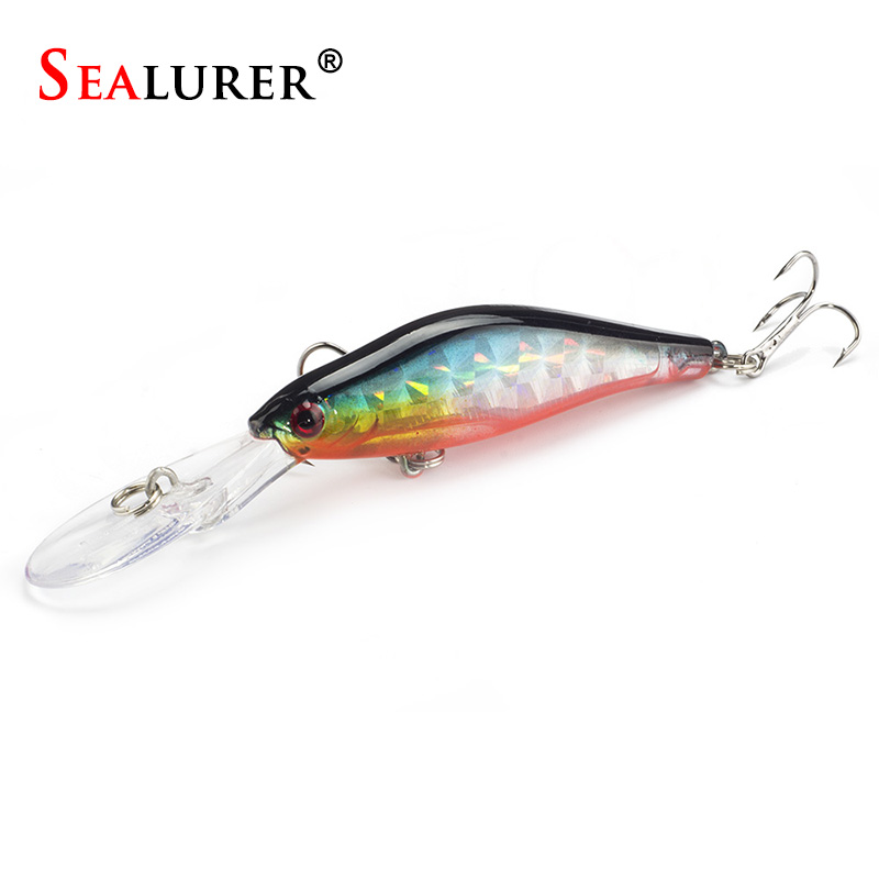 SEALURER   1Pcs Minnow Fishing Lure 9cm 7.1g with 2 Hooks Fish Wobbler Tackle Crankbait Artificial Hard Bait Swimbait tsurinoya fishing lure minnow hard bait swimbait mini fish lures crankbait fishing tackle with 2 hook 42mm 3d eyes 10 colors set