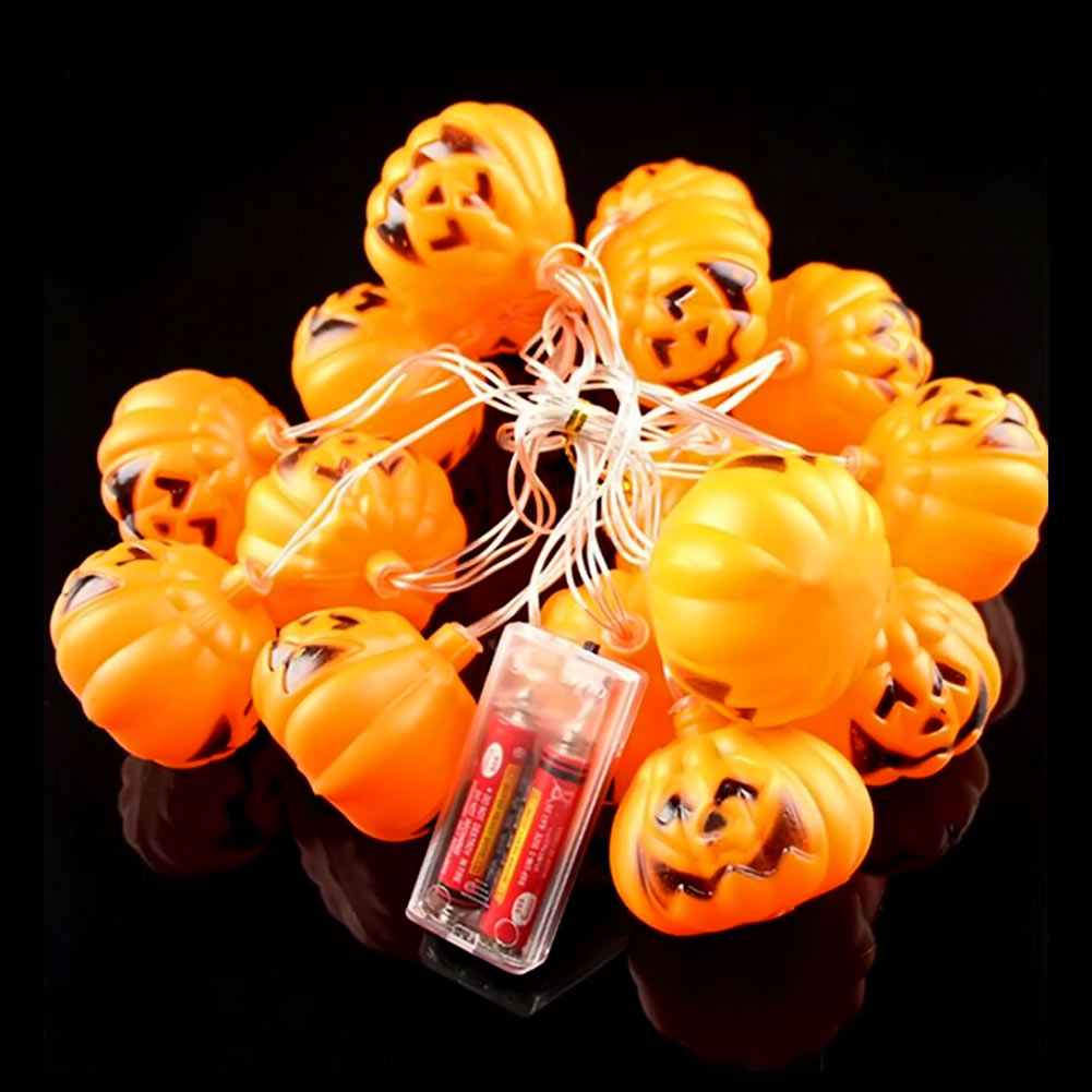 battery operated 35m 16 led halloween 3d pumpkin lights fairy string lights holiday decoration indoor outdoor lights - Halloween Outdoor Lights