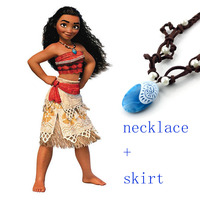 Necklace Costume Women Kid Movie Moana Princess Dress Cosplay Children Adult Halloween Girl Party Christmas Gift