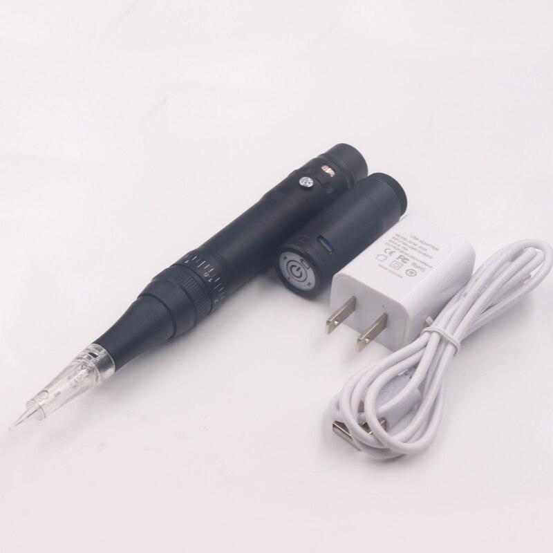 Güzellik ve Sağlık'ten Dövme Tabancaları'de Siyah Sıcak Satış Dövme Kalıcı makyaj kalemi Makinesi kablosuz Kaş Makyaj Kaş Dudak Dövme Makinesi İsviçre Motor Kalem Tabancası'da  Grup 1
