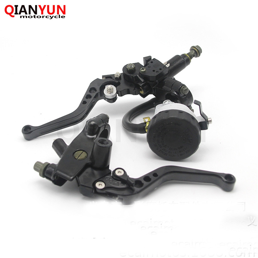 Color : Black High Quality BMD-Store Universal 7//8 22mm Motorcycle Front Brake Clutch Master Cylinder Motorbike Hydraulic Pump Lever For Yamaha Suzuki Honda