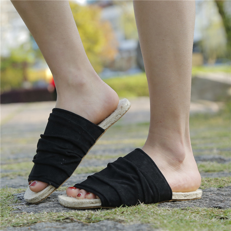 New Summer Slippers Women Espadrilles Slides Sandals Fashion Slip On Vacation Beach Casual Flat Shoes Plus Size Sandalias Mujer in Slippers from Shoes