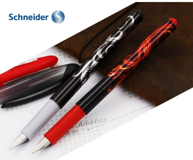 2 Pieces Schneider opus 0.5mm cool Graphic design pp body Fountain Pens for Kids Calligraphy Writing Office Supplies Stationery
