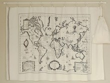 Buy fabric world map and get free shipping on aliexpress zy 140x65cm pretty cotton linen world map vintage zakka gumiabroncs Choice Image