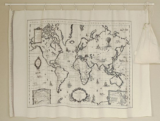 ZY DIY 140x65cm pretty cotton linen world map fabric vintage DIY ...