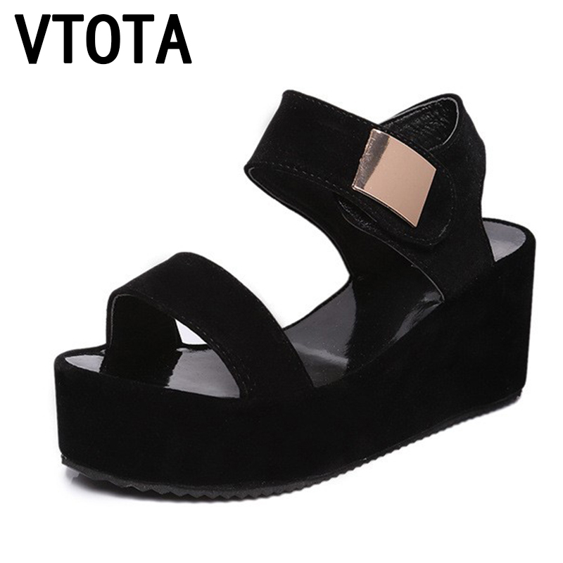 VTOTA 2018 Women Sandals Gladiator High Heel Open Toe Wedges Platform Sandalias Mujer Casual Sandals Women Summer Shoes R07 phyanic 2017 gladiator sandals gold silver shoes woman summer platform wedges glitters creepers casual women shoes phy3323