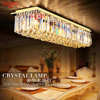 Modern Rectangular Crystal Ceiling LED Lamps Restaurant Golden K9 Ceiling Lamp Aisle Ceilinglights Entrance Foyer Lighting