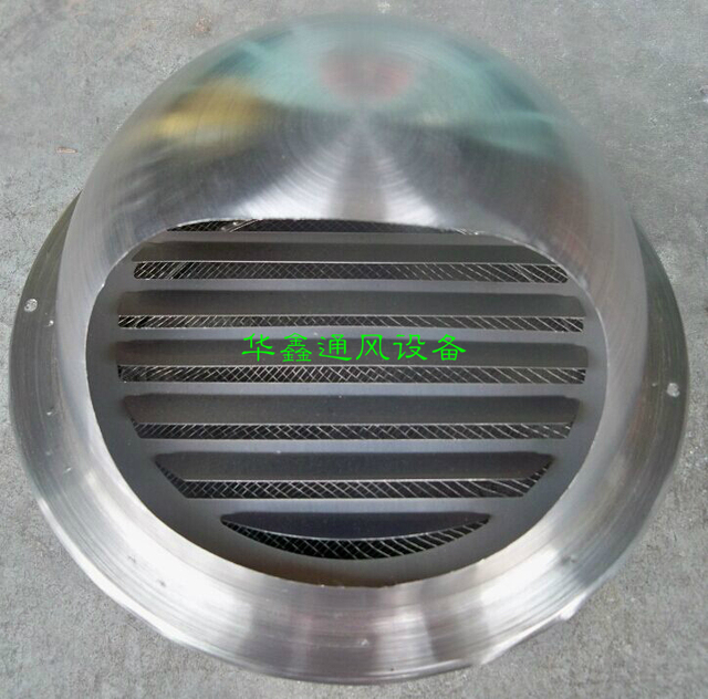 stainless steel exterior wall fan flue pipe cover rain hood exhaust
