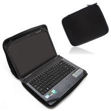 solid Black Laptop Notebook Sleeve Bag Waterproof Case in Computer Tablet PC 10 12 13 14 15 17 bag03