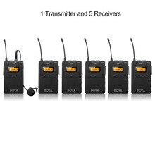 1 передатчик + 5 ресиверы BOYA UHF PLL Беспроводной микрофон экскурсовод система преподавательский голос