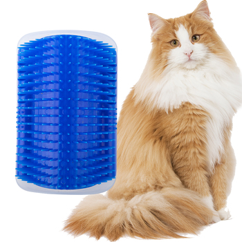 Pet Cat Self Groomer Grooming Tool Hair Removal Brush Comb For Dogs Cats Shedding Trimming Massage Device With Catnip 3