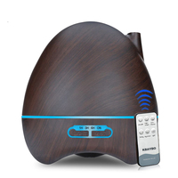 300ml Remote Control Ultrasonic Air Humidifier Aroma Essential Oil Diffuser 7 Color Changing LED Lamp Whole