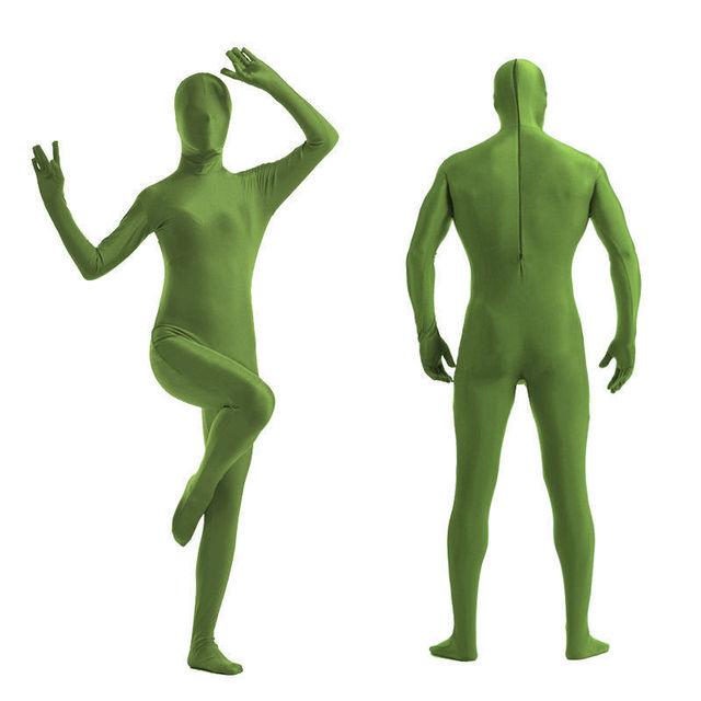 257bb22ef3 Kid Adult Army Green full body Unisex Lycra Spandex Bright 2nd Skin Zentai  Costumes Bodysuit Unitard leotard