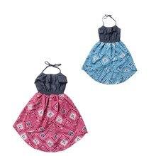 Enfants Vêtements Filles Robe 2016 Nouveau Design Denim Enfants Robes Pour Les Filles En Mousseline de Soie Parti Enfant Robe de Princesse Enfant Vêtements Tutu
