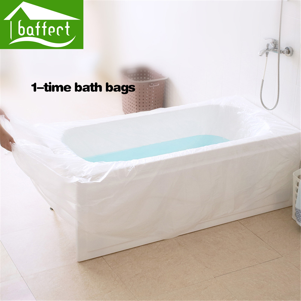Buy baffect disposable travel bathtub for Bathtub covers liners prices