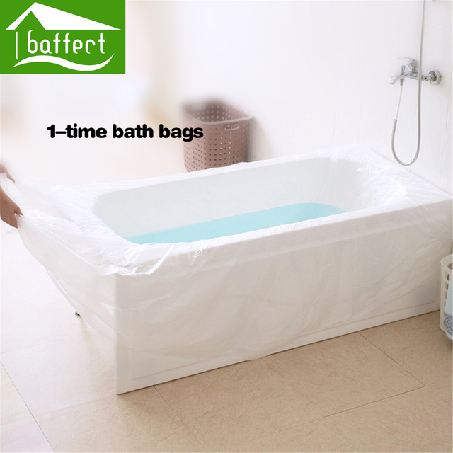Baffect disposable travel bathtub film foldable thickened for Bathtub covers liners prices