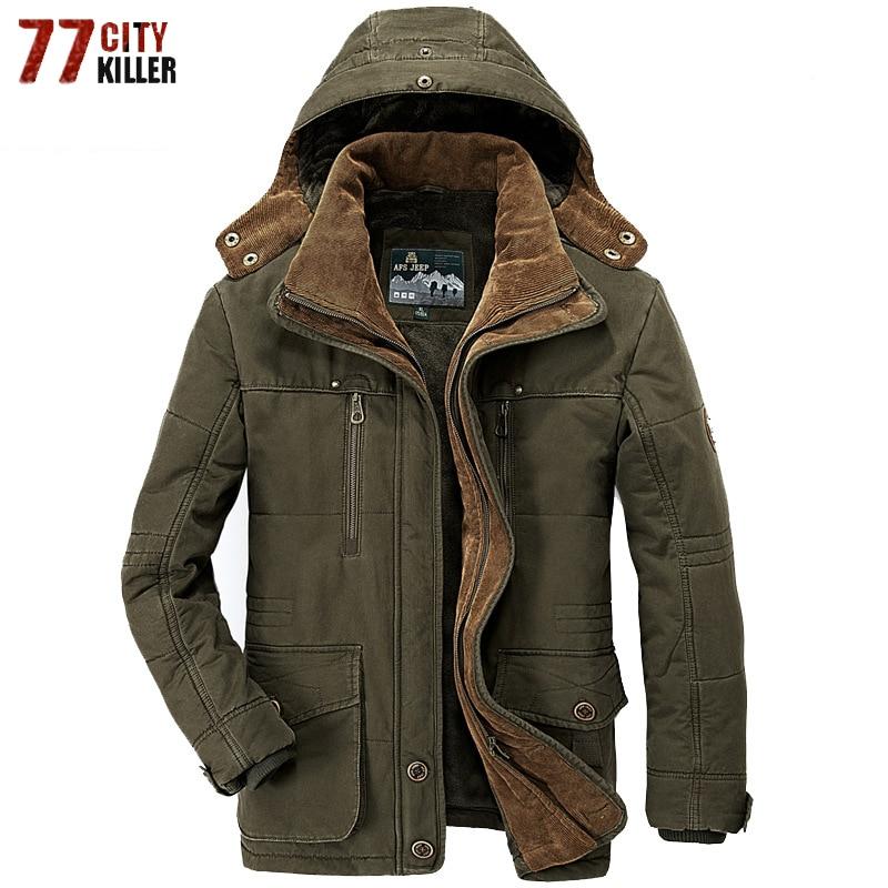 Brand Thick Winter   Parkas   men Military Fleece Jacket men Hooded Casual Multi-Pocket   Parkas   Hombre Invierno Plus Size 5XL 6XL 7XL