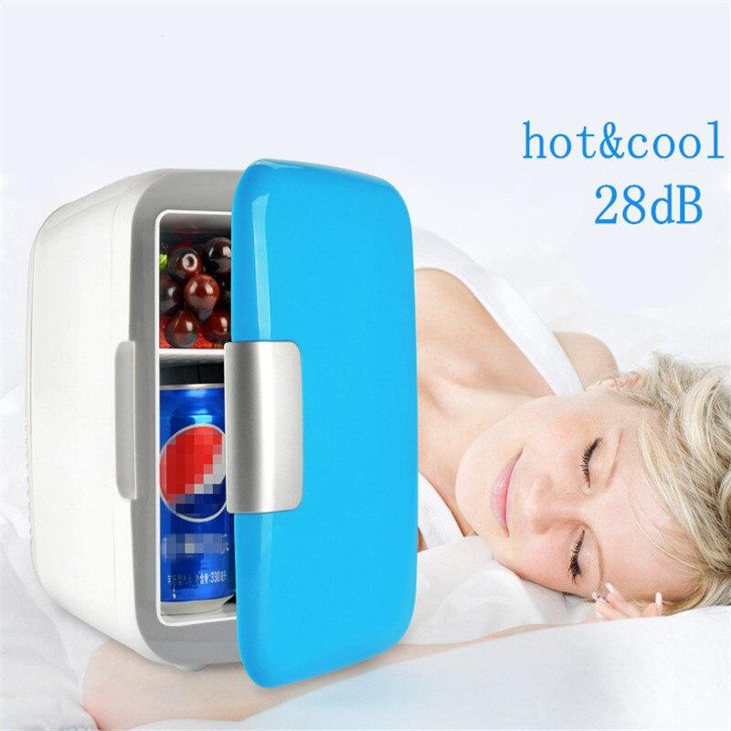 New Portable 4L Mini Car Refrigerator 12V Multi-Function Home Travel Cooler Freezer Warmer Car Refrigerator Fridge Auto Supply