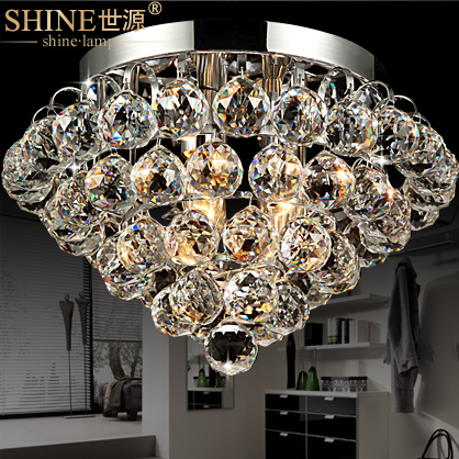 process of modern luxury fashion LED room ceiling lamp crystal lamp simple aisle porch lamp bedroom 9164