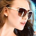 Mulheres ou Senhora óculos de Sol de alta Qualidade 2016 Verão Moda De Luxo D Estilo Shades Óculos Oculos lentes degradê óculos de sol Real