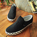 summers men's losfers slip on flat shoes outdoor man plaid flat canvas shoes slip on casual shoes chaussure hommes XK080516