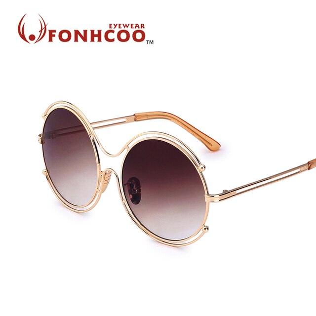 2018 FONHCOO mode Putaran Kacamata retro vintage Wanita logam Berongga  Bingkai Merek Desainer Berputar-putar 5c7f9a13c3