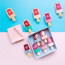 Hot NOVO Cute Ice Cream Lip Tint Makeup Red Liquid Matte Lipstick Pigment Nude L