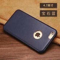 Heißer verkauf Neue mode 5 Farben marke für iPhone 6 6 s echt Echtes Lammfell leder abdeckung Telefonkasten für iPhone 6 s plus fall