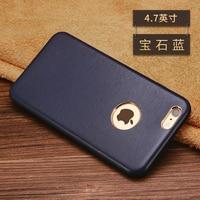 Hot verkoop Nieuwe mode 5 Kleuren merk voor iPhone 6 6 s Real Echt lamsleren cover Telefoon Case voor iPhone 6 s plus case