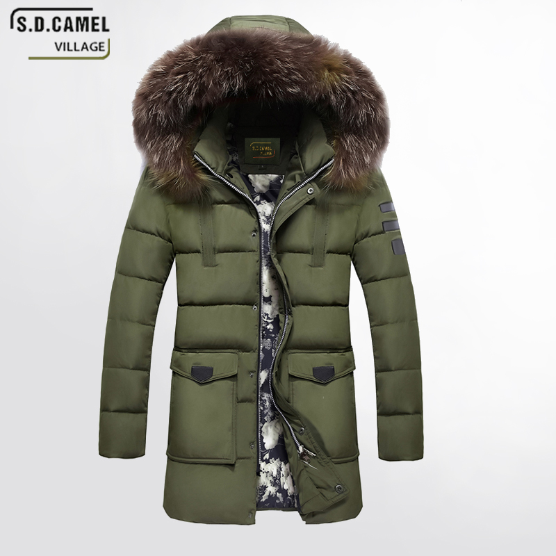 2017 Winter New Men's clothing coat 5xl plus size casual cotton coat black khaki and army green Hooded long warm jacket