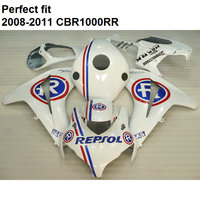 100% fit for Honda injection molding white CBR1000RR 08 09 10 11 fairings set CBR 1000RR 2008 2009 2010 2011 CY24