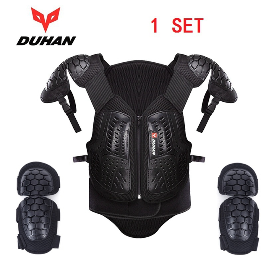 Free shipping 1set New DUHAN Motorcycle Motorcross Racing Full Body Armor Spine Chest Protector Jacket
