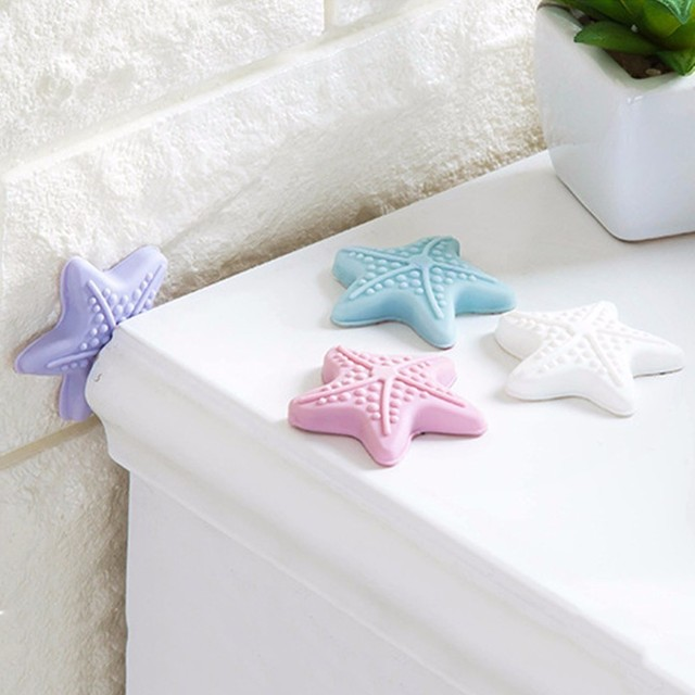 Star-Shaped Wall Protectors Door Handle Bumpers Buffer Guard Stoppers Furniture Silencer Crash Pad Doorknob Home Decoration