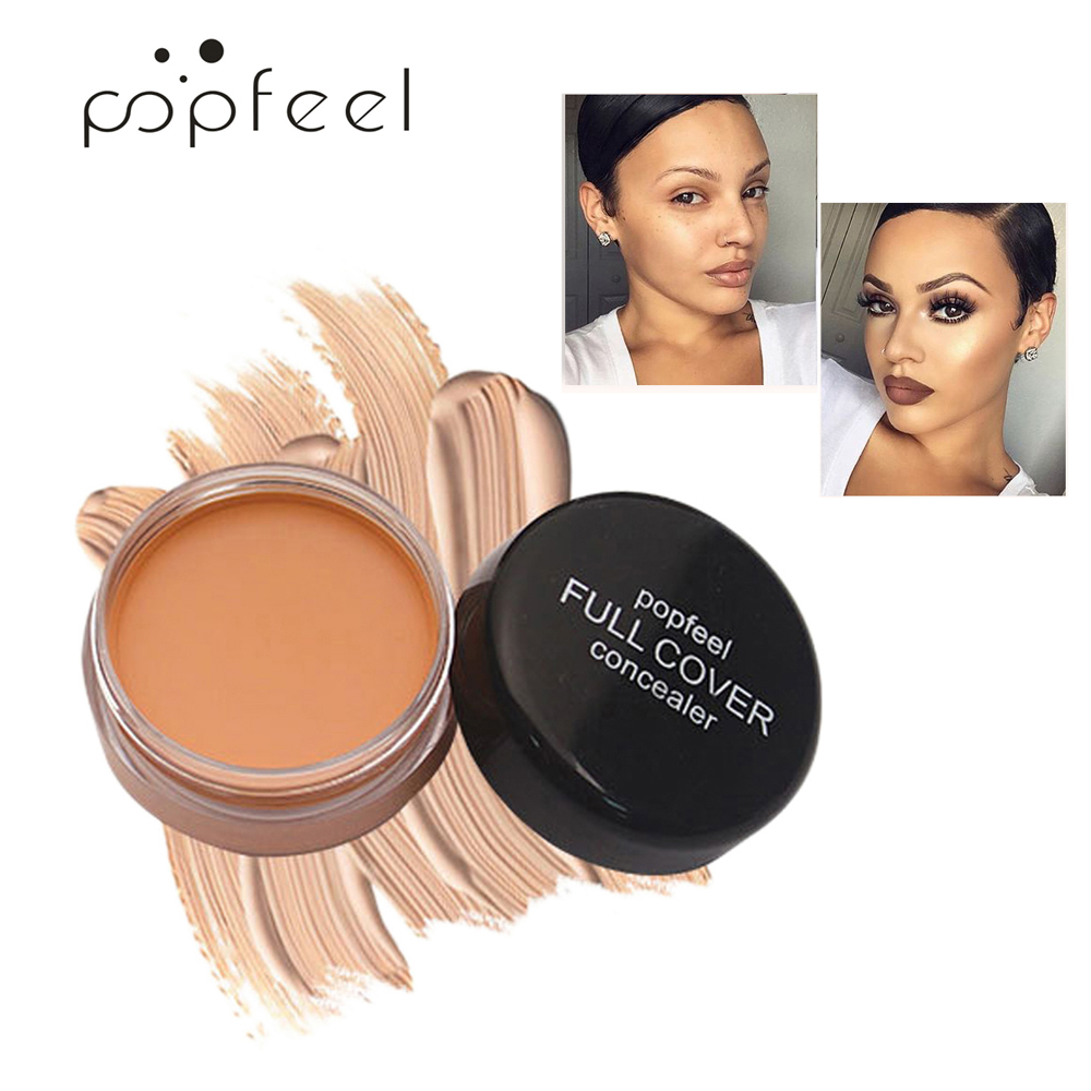 Popfeel Beauty Tool Face Makeup Professional Women Concealer Hide Blemish Cover Make Contouring Corretivo Maquiagem Cream