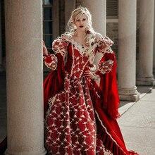 ВИНТАЖНЫЙ ПЛАКАТ «средневековая фантазия» пышные платья Викторианский Хэллоуин Бальные платья для выпускного вечера пышные вечерние платья красные вечерние платья