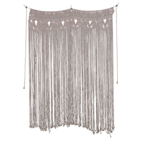Handmade Cotton Wall Hanging Curtains Macrame Tapestry Art Door Room Divide for Wedding Living Room