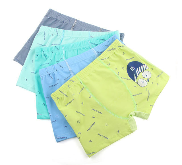 Cartoon Boys Underwear Soft Breathable Boxer for 5-12 Years 5 Pcs/lot