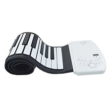 Built-in Lithium battery 88 Keys USB Soft Flexible Electronic Piano Music Silicone Roll Up Musical Instrument Keyboard Piano